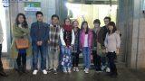 Đại diện Amec cùng các bạn học sinh đi thăm quan Madrid