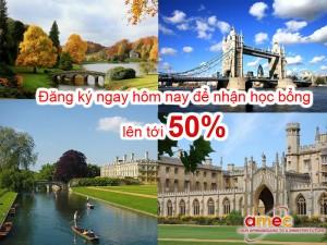 Học bổng du học Anh lên tới 50% cùng Amec