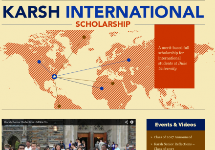 Học bổng Karsh – Cơ hội Du học Trường top 10 Mỹ