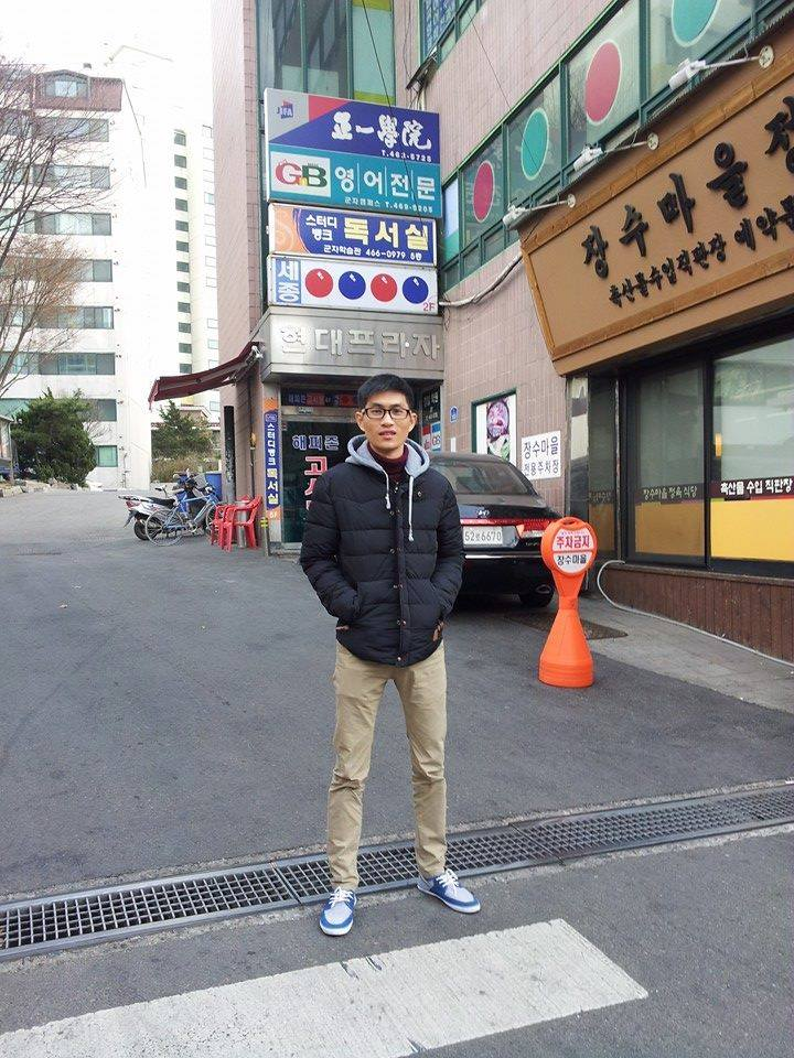 Bạn Tuấn Anh – một trong những học sinh của Amec đang theo học trường Đại Học Sejong (Seoul).