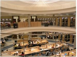 Thư viện tại trường đại học công lập Almeria