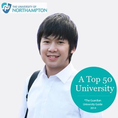 Hoàng Minh – gương mặt trang bìa của Đại Học Northampton và một trong những sinh viên ưu tú của AMEC.