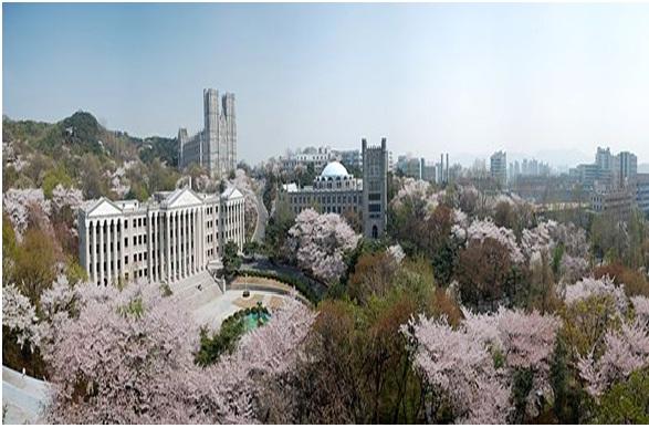 Đại học Kyunghee nhìn từ trên cao