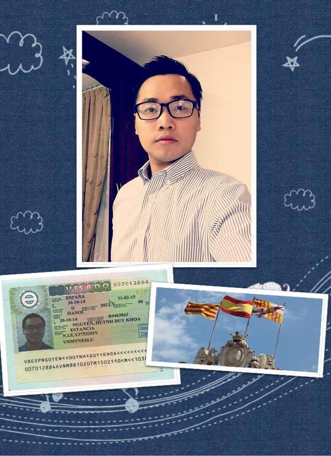 visa du học Tây Ban Nha Nguyễn Huỳnh Duy Khoa - học sinh AMEC