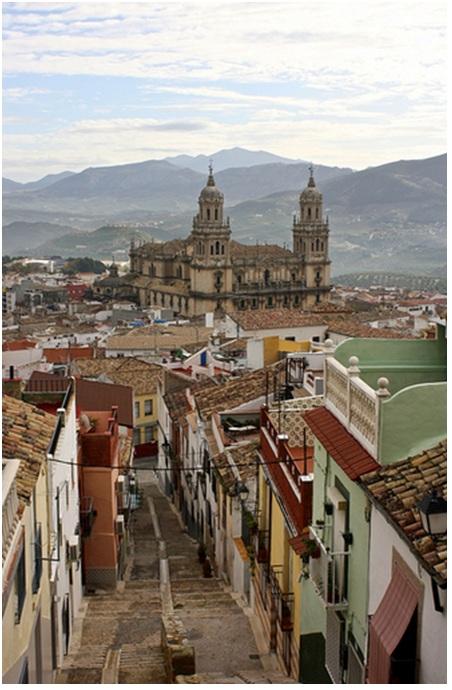 Con phố nhỏ hẹp ở Jaén