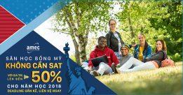 Săn học bổng Mỹ không cần SAT với giá trị lên đến 50% cho năm học 2018