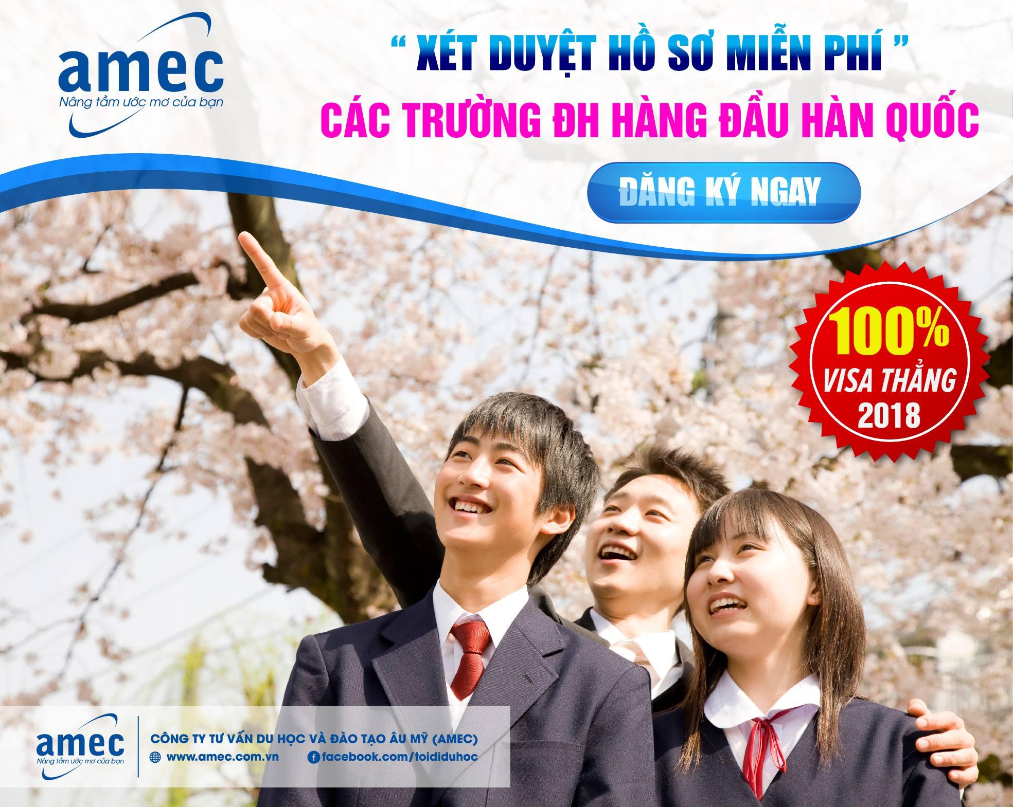 TIN NÓNG : AMEC mở đợt xét tuyển hồ sơ miễn phí khu vực miền Nam – Tặng 100$ cho hồ sơ đạt yêu cầu