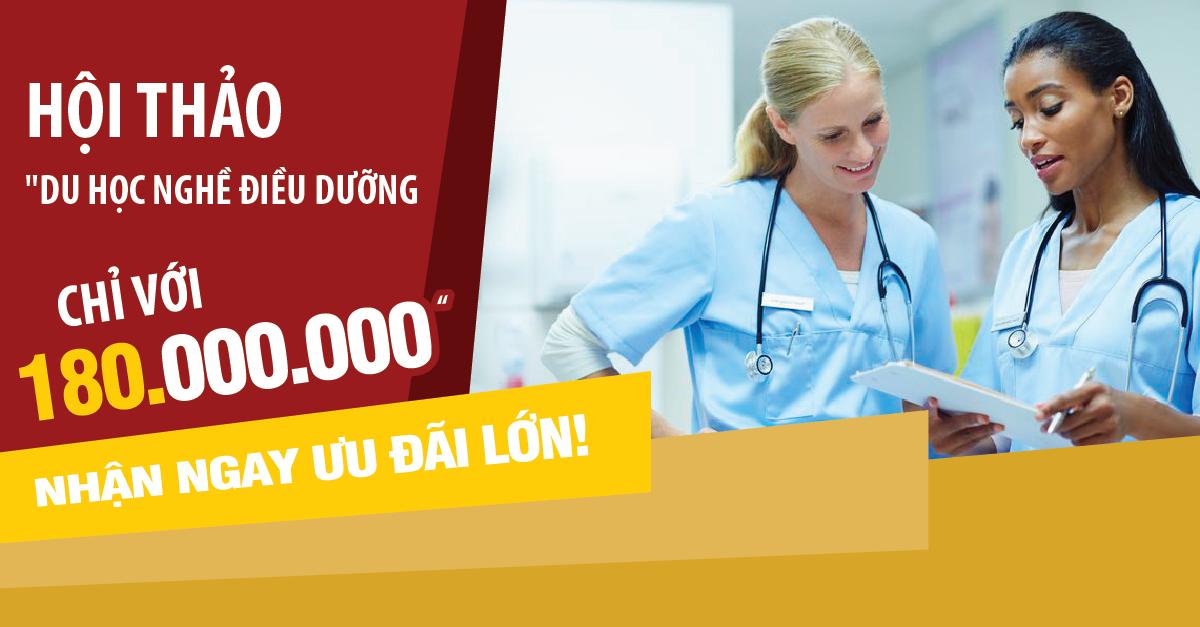 """Hội thảo: """"Du học nghề điều dưỡng chỉ với 180 Triệu đồng"""". Nhận ngay ưu đãi lớn!"""