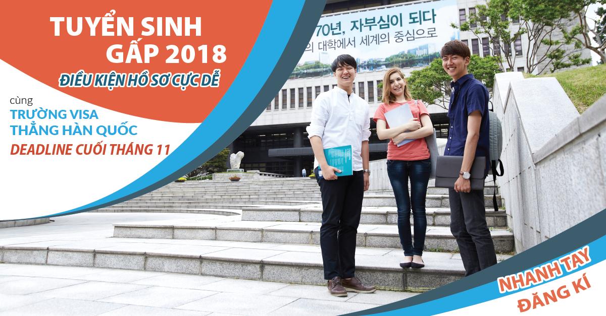 Tuyển sinh visa thẳng du học Hàn 2018 – hồ sơ đơn giản đảm bảo Visa 100%
