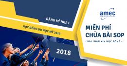 Du học Mỹ 2018 – Đăng ký Chữa Bài Luận Học Bổng MIỄN PHÍ