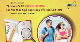 Thi thử IELTS Miễn phí tại Hội Thảo Cập Nhật THAY ĐỔI Visa ưu tiên Canada – CES/SDS