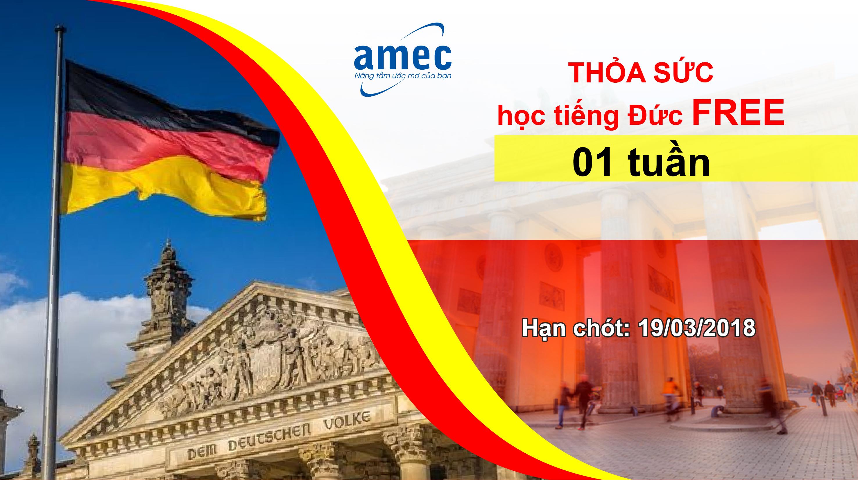 Tháng 03 Thỏa Sức Học Tiếng Đức – Học Thử 01 Tuần Free