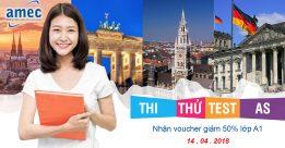 """SỰ KIỆN HOT 14.4.2018: """"Thi Thử Test As Free- Nhận ngay Voucher 50% lớp tiếng Đức A1"""""""