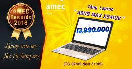 "Tin Hot: ""AMEC Rewards 2018"" – Laptop Trao Tay – Học Tập Hăng Say !"