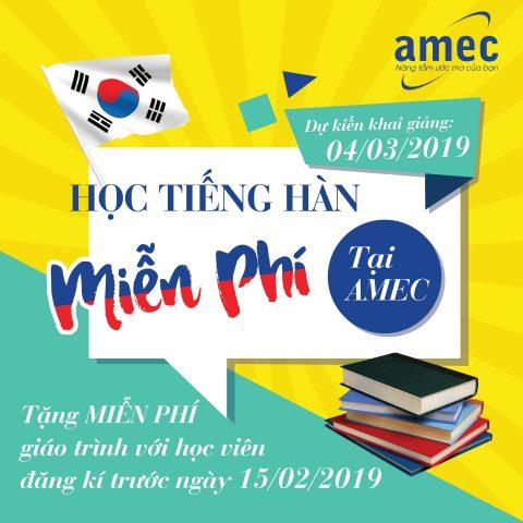 Học tiếng Hàn miễn phí cùng AMEC Hồ Chí Minh