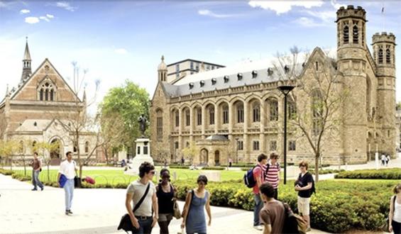 Campus trường Đại học Adelaide Úc